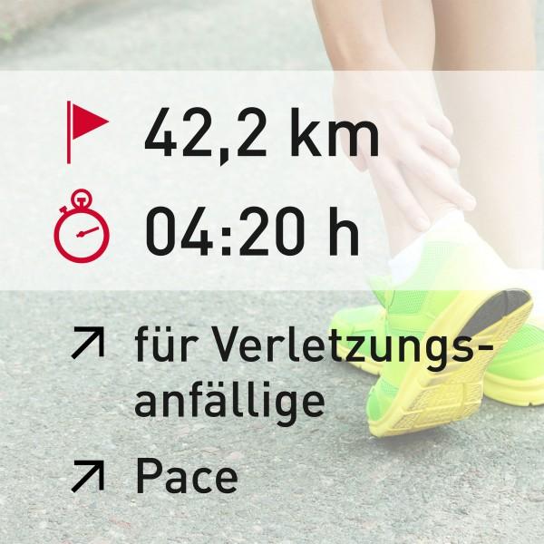 42,2 km - 04:20 h - Pace