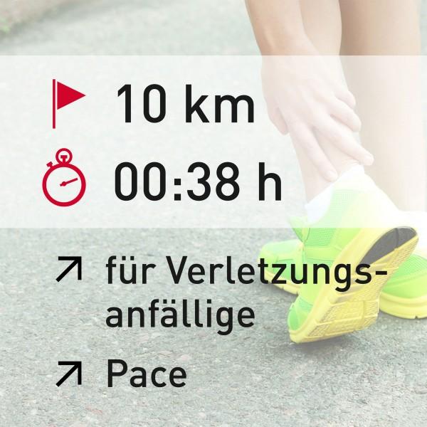 10 km - 00:38 h - Pace
