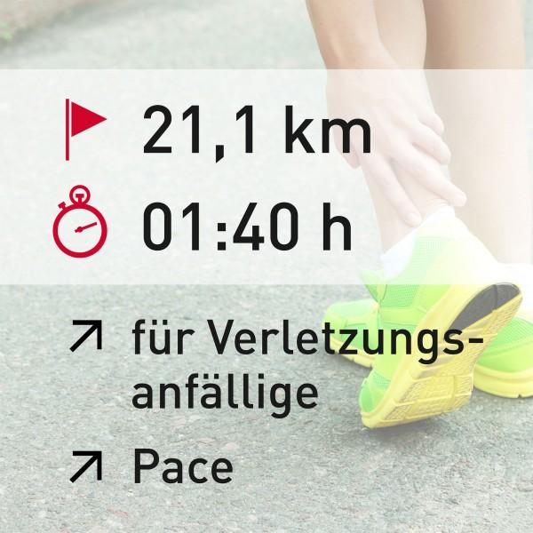 21 km - 01:40 h - Pace