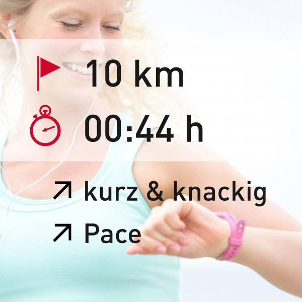 10 km - 00:44 h - intensity - Pace
