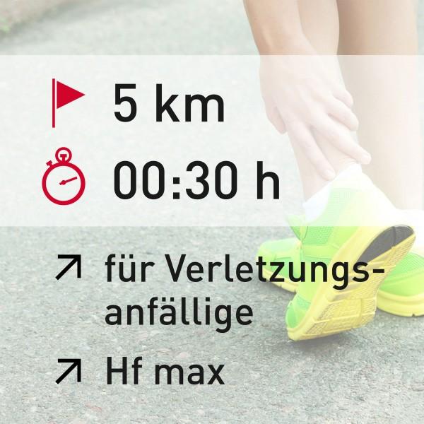 5 km - 00:30 h - Herzfrequenz