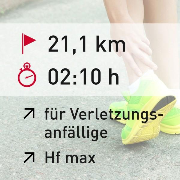 21 km - 02:10 h - Herzfrequenz