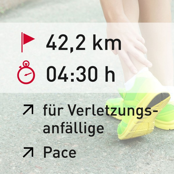 42,2 km - 04:30 h - Pace