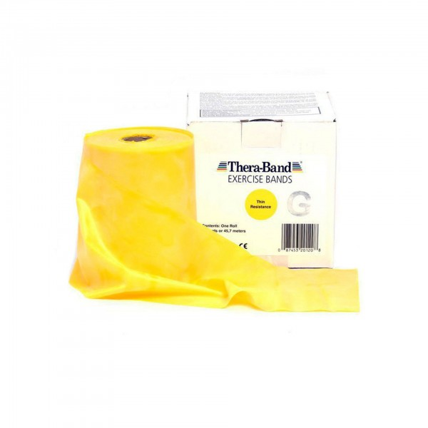 Produktbild TheraBand Übungsband 45,5 m, dünn / gelb