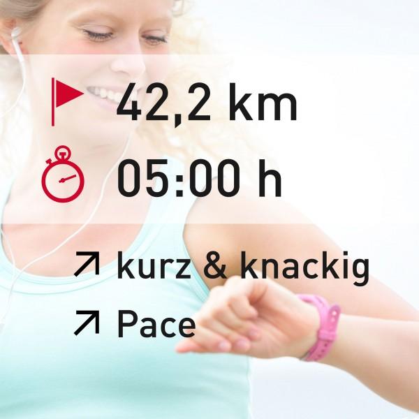 42,2 km - 05:00 h - intensity - Pace