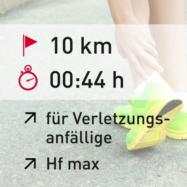10 km - 00:44 h - Herzfrequenz