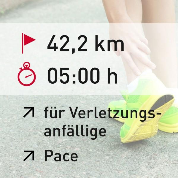 42,2 km - 05:00 h - Pace