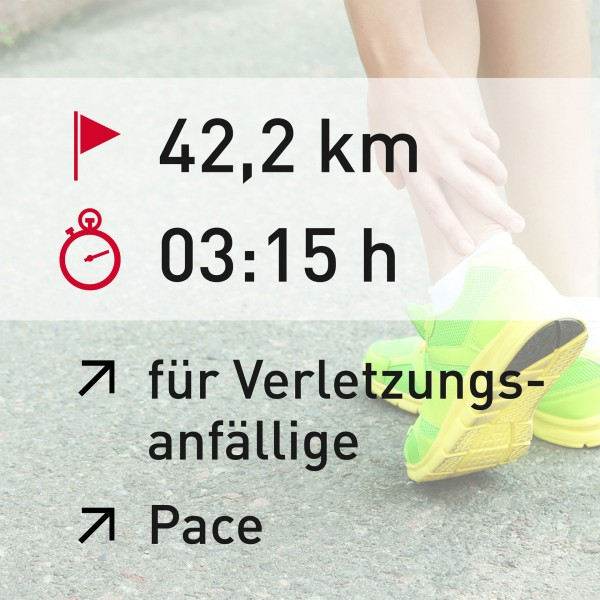 42,2 km - 03:15 h - Pace