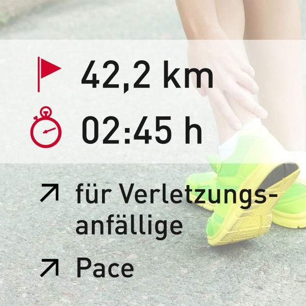 42,2 km - 02:45 h - Pace