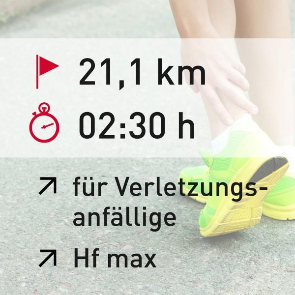 21 km - 02:30 h - Herzfrequenz