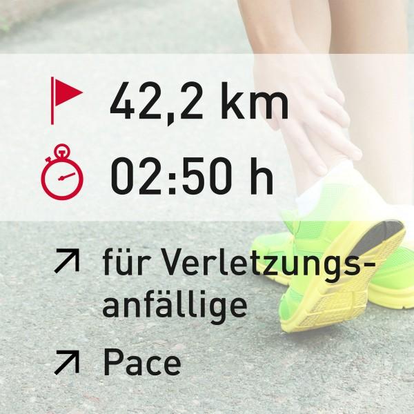 42,2 km - 02:50 h - Pace