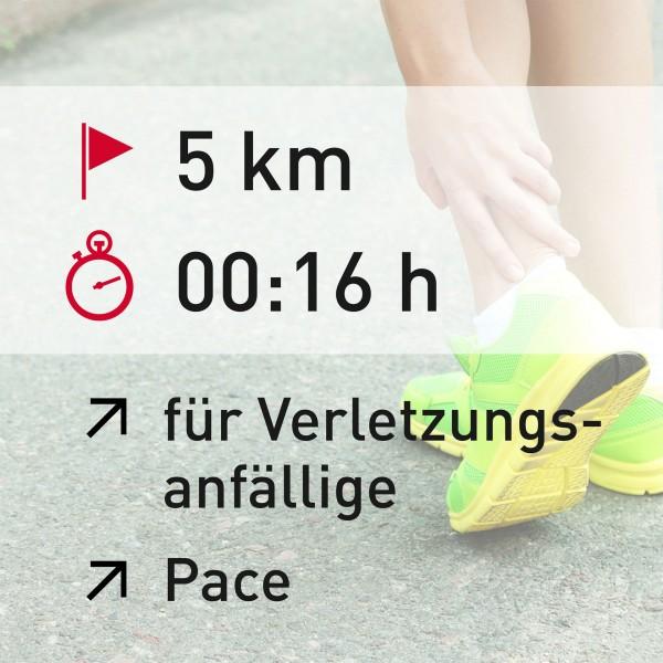 5 km - 00:16 h - Pace