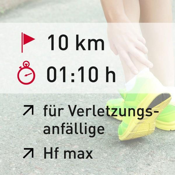 10 km - 01:10 h - Herzfrequenz