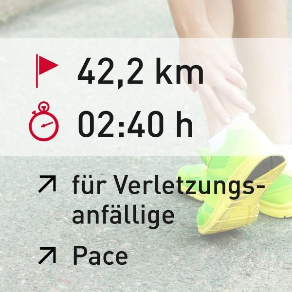 42,2 km - 02:40 h - Pace