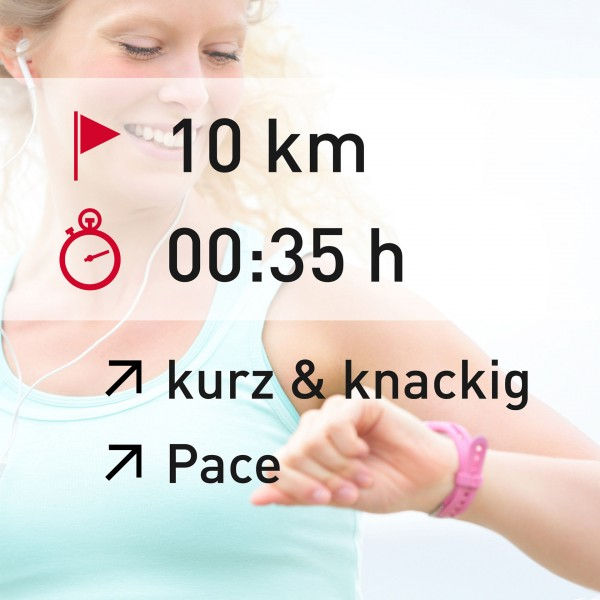 10 km - 00:35 h - intensity - Pace