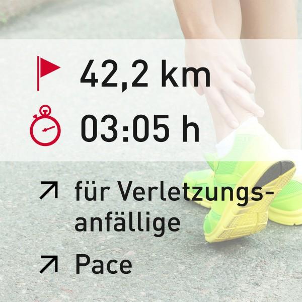 42,2 km - 03:05 h - Pace