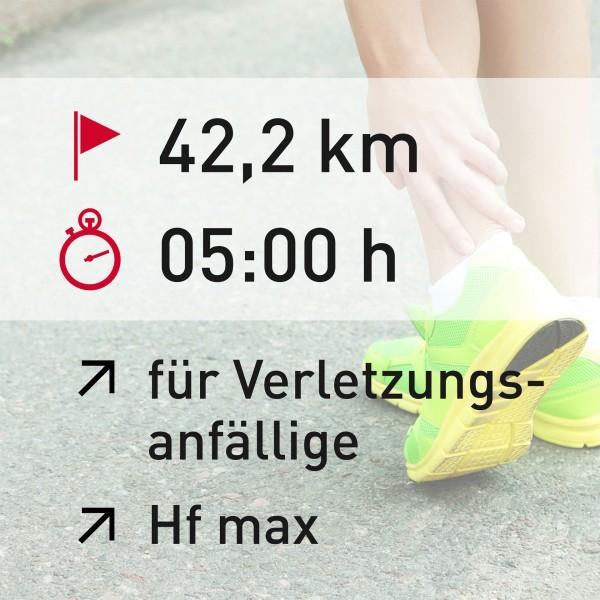 42,2 km - 05:00 h - Herzfrequenz