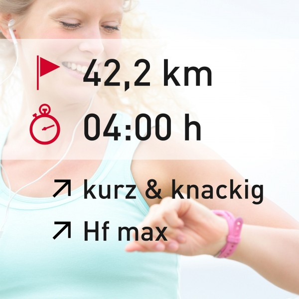 42,2 km - 04:00 h - intensity - Herzfrequenz