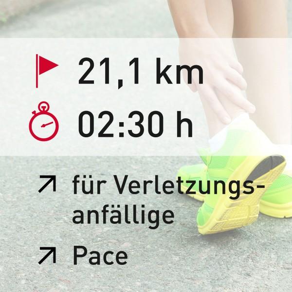 21 km - 02:30 h - Pace