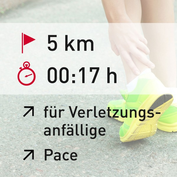 5 km - 00:17 h - Pace