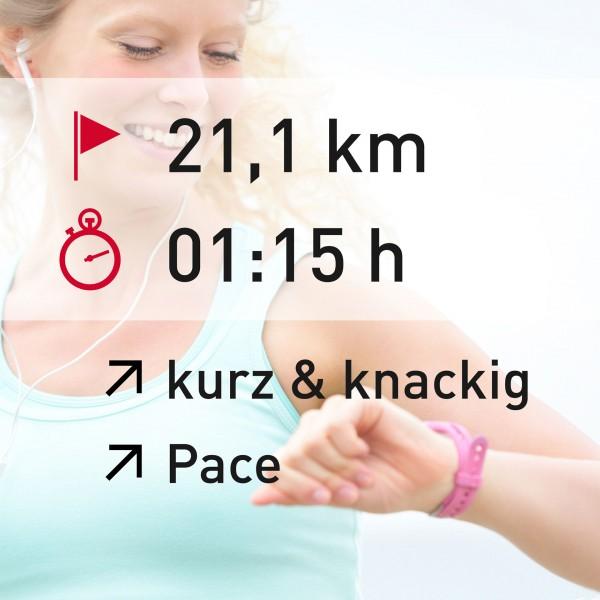 21,1 km - 01:15 h - intensity - Pace