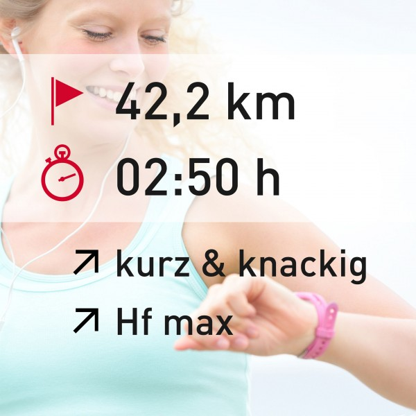 42,2 km - 02:50 h - intensity - Herzfrequenz