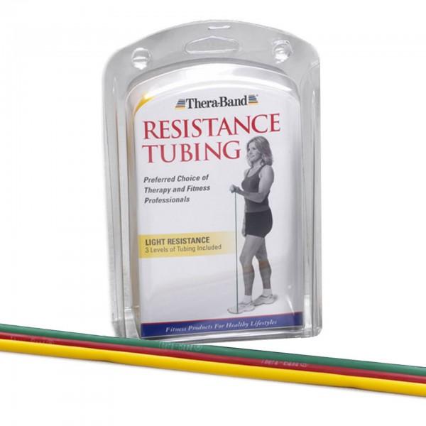 Produktbild TheraBand Tubings im Set 3 x 1,50 m, leicht + mittel stark + stark