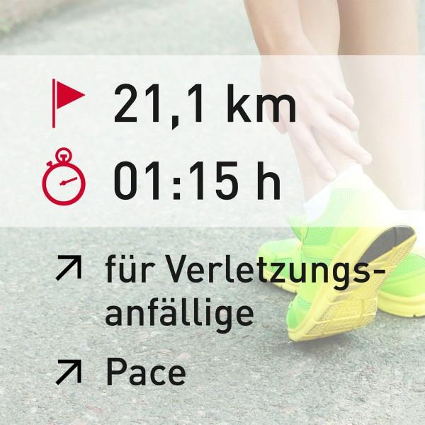 21 km - 01:15 h - Pace