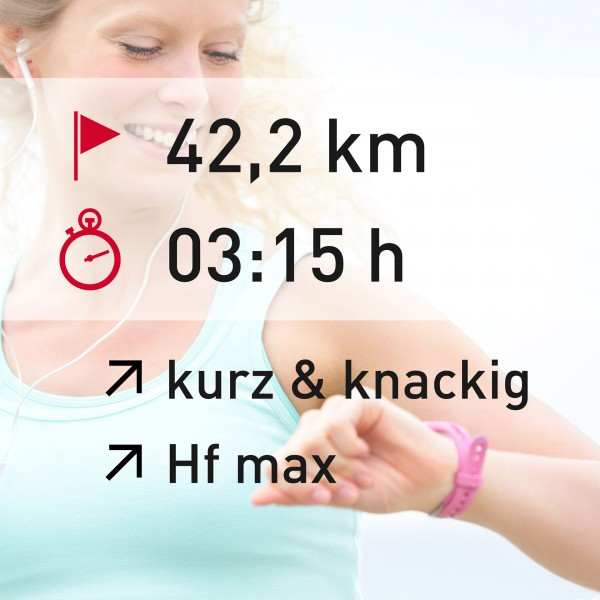42,2 km - 03:15 h - intensity - Herzfrequenz