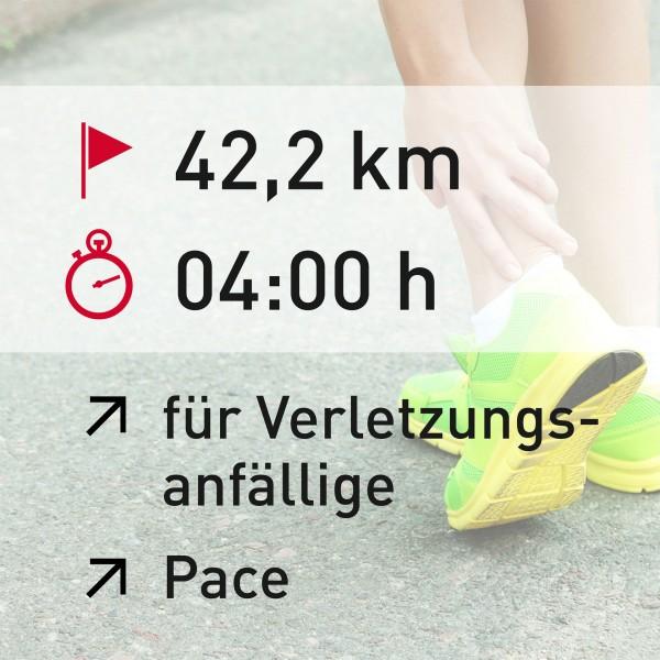 42,2 km - 04:00 h - Pace
