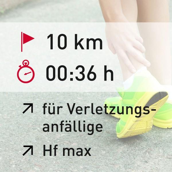 10 km - 00:36 h - Herzfrequenz