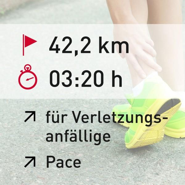 42,2 km - 03:20 h - Pace