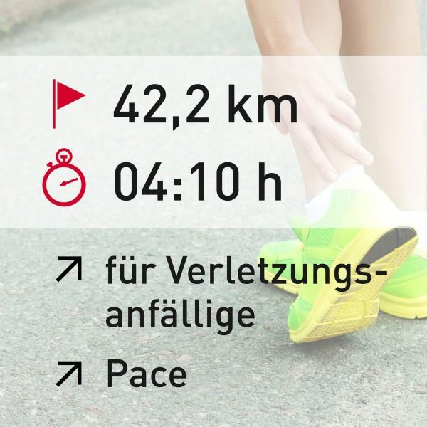 42,2 km - 04:10 h - Pace