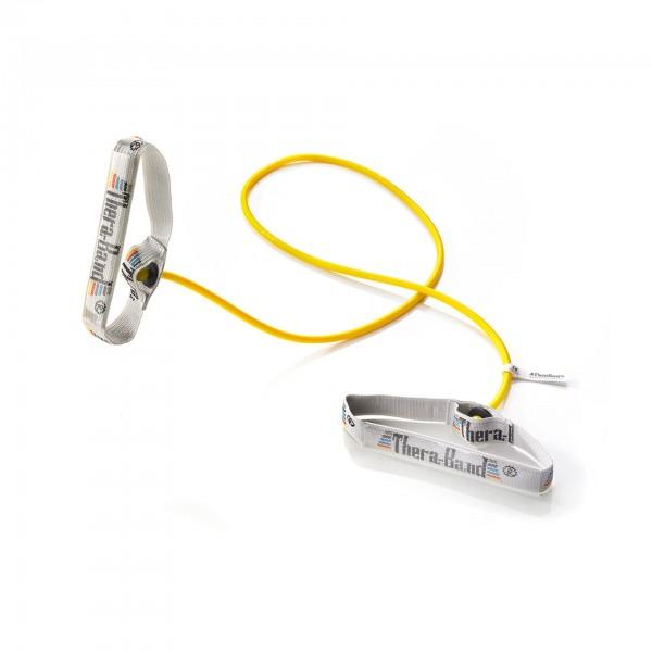 Produktbild TheraBand Bodytrainer Tubing mit flexiblen Griffen, dünn / gelb