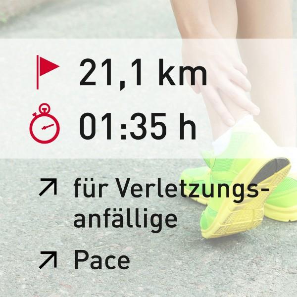 21 km - 01:35 h - Pace