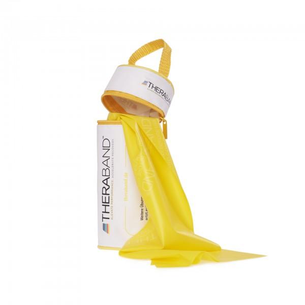 Produktbild TheraBand Übungsband 2,50 m in Reißverschlusstasche, leicht / gelb