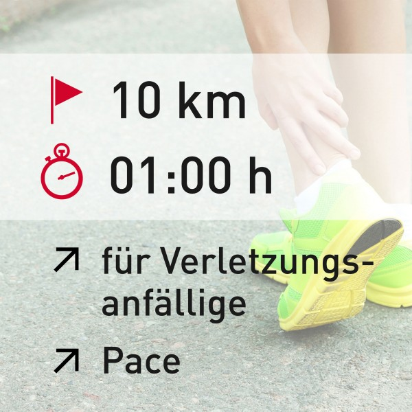 10 km - 01:00 h - Pace