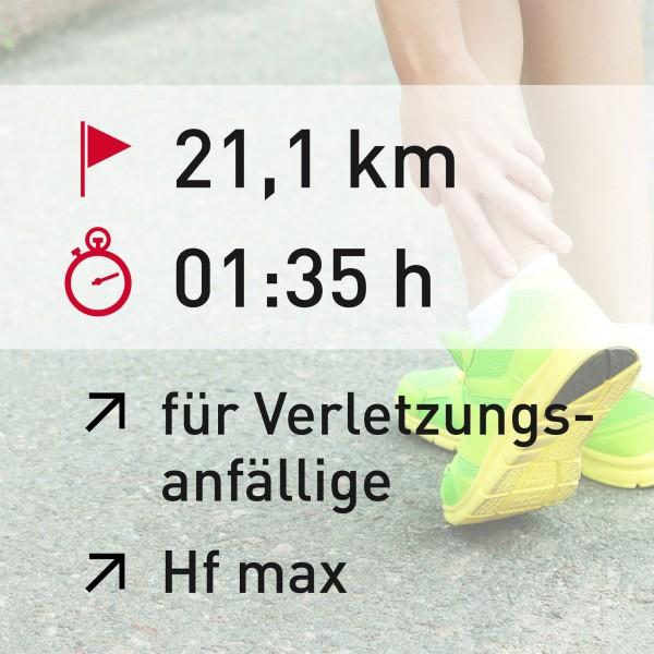 21 km - 01:35 h - Herzfrequenz