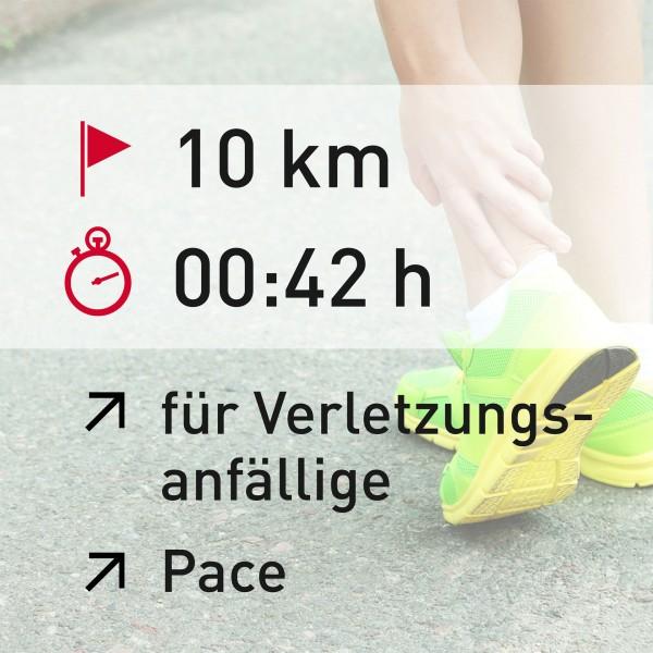 10 km - 00:42 h - Pace