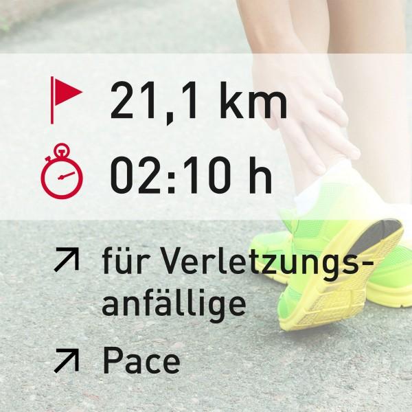 21 km - 02:10 h - Pace