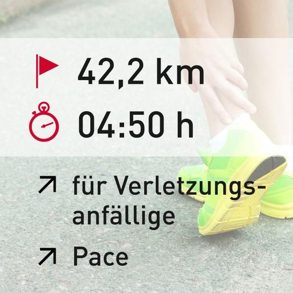 42,2 km - 04:50 h - Pace