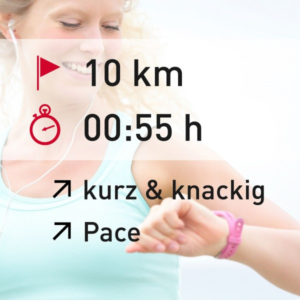 10 km - 00:55 h - intensity - Pace