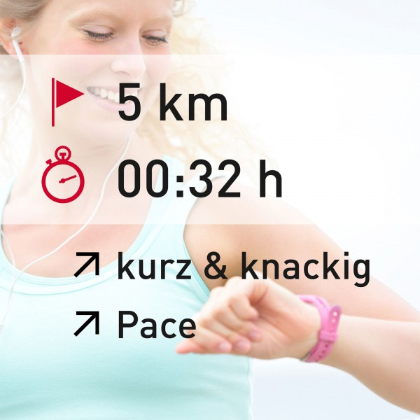 5 km - 00:32 h - intensity - Pace