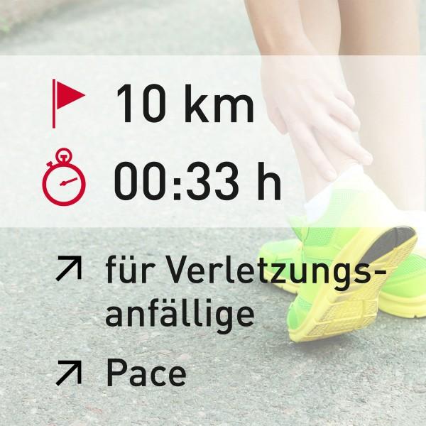 10 km - 00:33 h - Pace