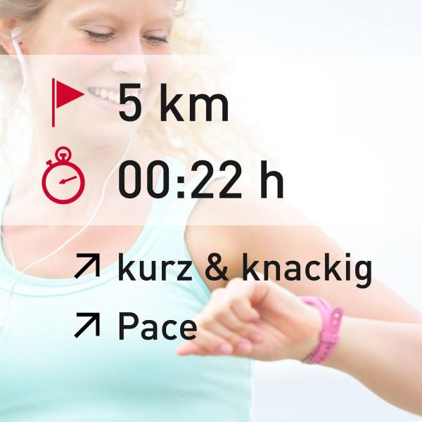 5 km - 00:22 h - intensity - Pace