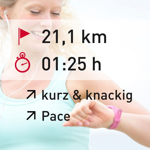 21,1 km - 01:25 h - intensity - Pace