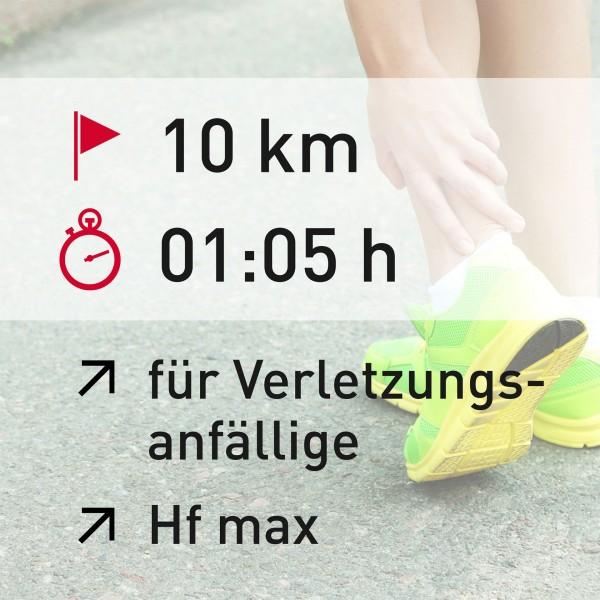 10 km - 01:05 h - Herzfrequenz