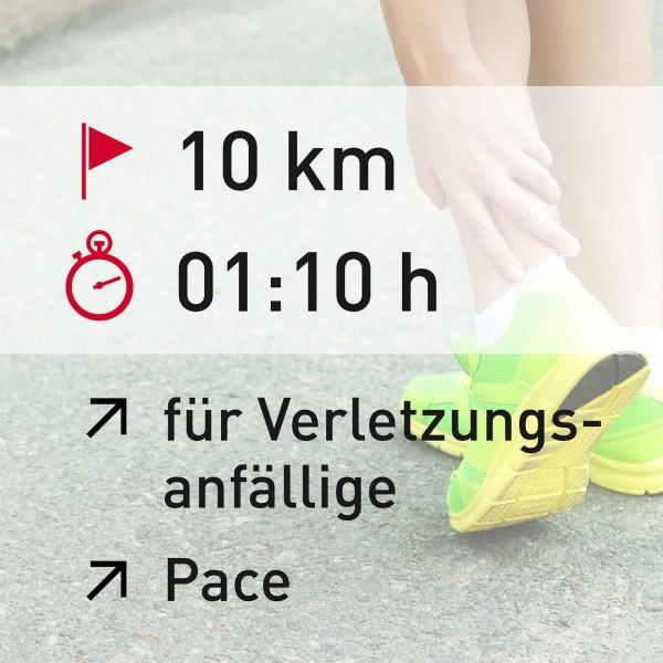 10 km - 01:10 h - Pace