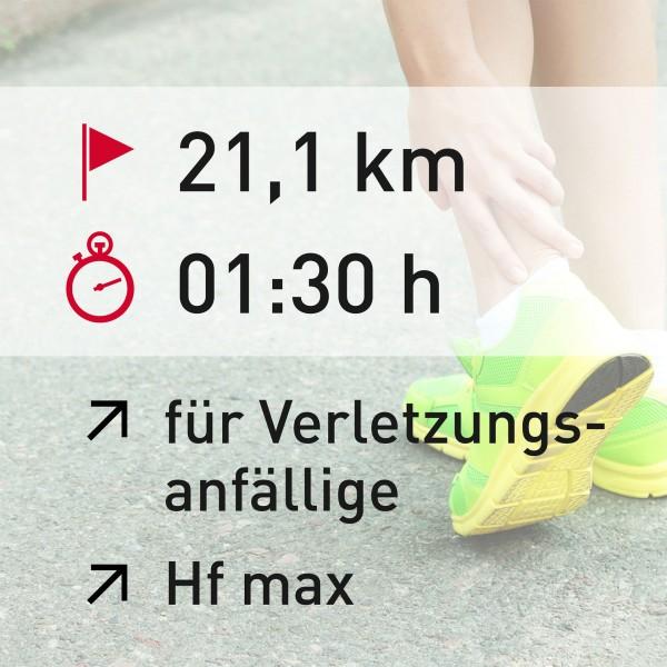21 km - 01:30 h - Herzfrequenz