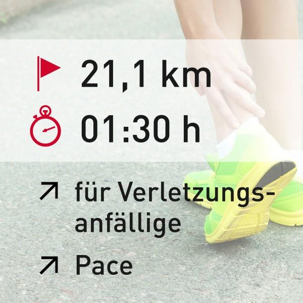 21 km - 01:30 h - Pace - ENG